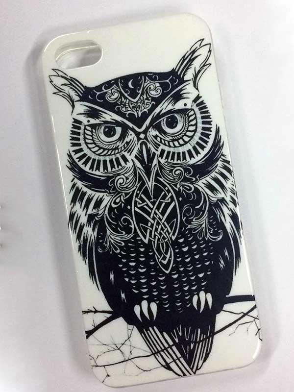 Картинка совы как на чехле телефона